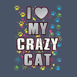 My Crazy Cat - Adult Soft Tri-Blend T Design