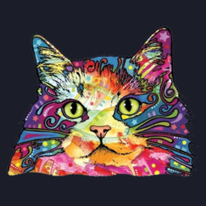 Colorful Cat - Ladies V-Neck T Design