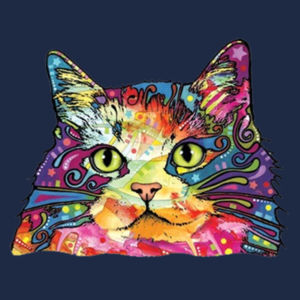 Colorful Cat - Adult Soft Cotton T Design