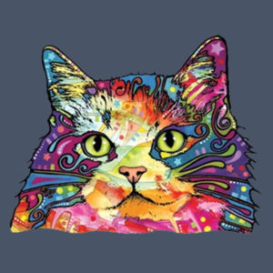 Colorful Cat - Adult Soft Tri-Blend T Design
