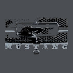 Mustang Grill - Juniors V-Neck T Design
