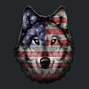 American Wolf - Juniors V-Neck T Design