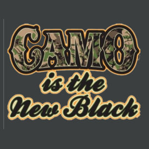 Camo is the New Black - Adult Soft Tri-Blend T Design