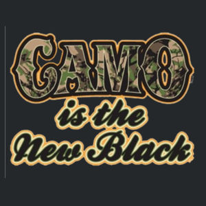 Camo is the New Black - Adult 50/50 Blend Hoodie Design
