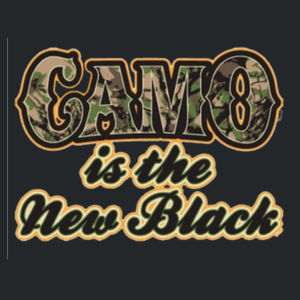 Camo is the New Black - Juniors V-Neck T Design