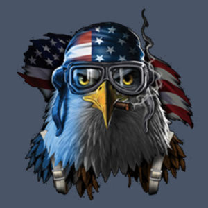 Patriotic Eagle - Adult Soft Tri-Blend T Design