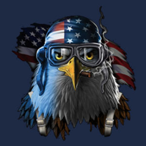 Patriotic Eagle - Adult Soft Cotton T Design