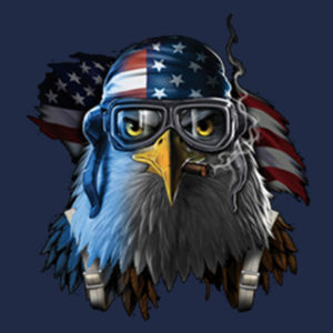 Patriotic Eagle - Adult 50/50 Blend Hoodie Design