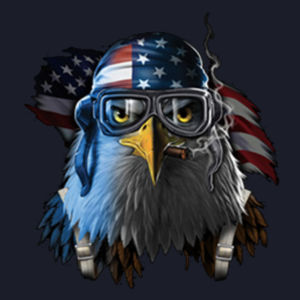Patriotic Eagle - Ladies V-Neck T Design