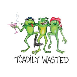 Toadily Wasted - Adult Soft Tri-Blend T Design
