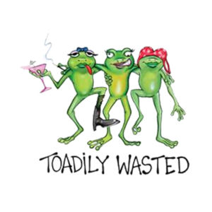 Toadily Wasted - Adult 50/50 Blend Hoodie Design