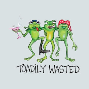 Toadily Wasted - Juniors V-Neck T Design