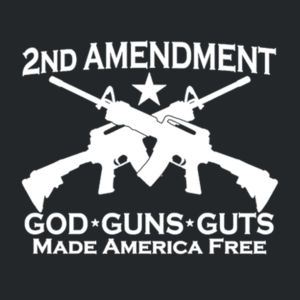 2nd Ammendment - Juniors V-Neck T Design