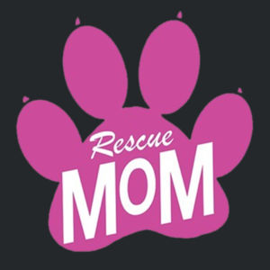Rescue Mom - Adult 50/50 Blend Hoodie Design