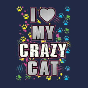 My Crazy Cat - Adult 50/50 Blend Hoodie Design