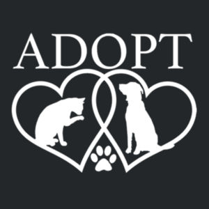 Adopt - Juniors V-Neck T Design