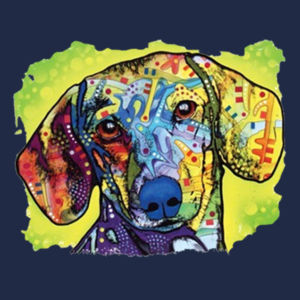 Colorful Dachshund - Adult 50/50 Blend Hoodie Design