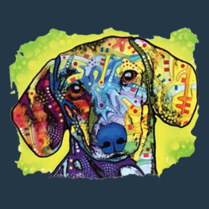 Colorful Dachshund - Juniors V-Neck T Design