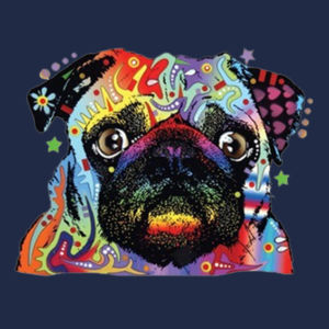 Colorful Pug - Adult Dri Blend Hooded Design