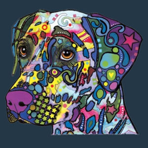 Colorful Dalmatian  - Juniors Concert V Neck T Design