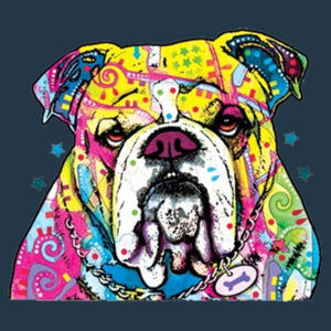 Colorful Bulldog - Juniors Concert V Neck T Design