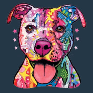 Colorful Pit Bull T-Shirt - Juniors Concert V Neck T Design