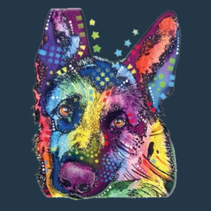 Colorful German Shepherd  - Juniors Concert V Neck T Design