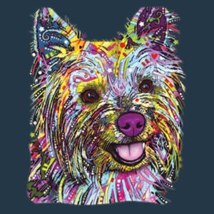 Colorful Yorkie - Juniors Concert V Neck T Design