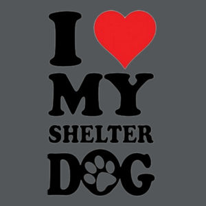 Love Shelter Dogs - Juniors Concert V Neck T Design