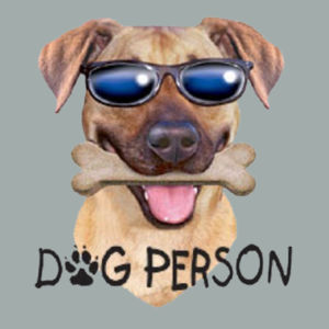 Dog Person T-Shirt - Ladies Fan Favorite V Neck Design