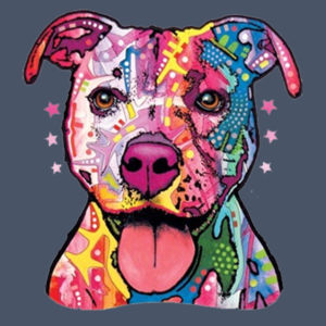 Colorful Pit Bull T-Shirt - Adult Soft Tri-Blend T Design