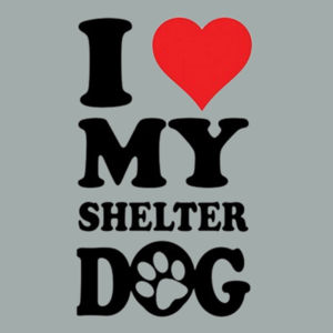 Love Shelter Dogs - Ladies Ring Spun T Design