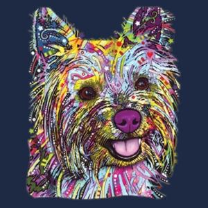 Colorful Yorkie - Adult Soft Cotton T Design