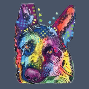 Colorful German Shepherd  - Adult Soft Tri-Blend T Design
