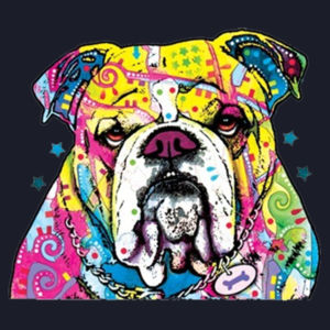 Colorful Bulldog - Ladies Fan Favorite V Neck Design