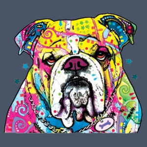 Colorful Bulldog - Adult Soft Tri-Blend T Design