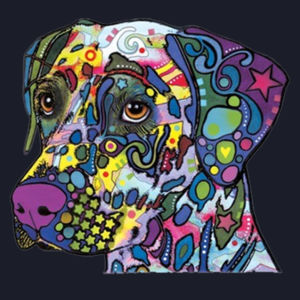 Colorful Dalmatian  - Ladies Fan Favorite V Neck Design