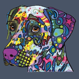 Colorful Dalmatian  - Adult Soft Tri-Blend T Design