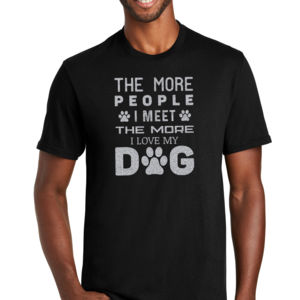 The More People I Meet I Love My Dog 1 (Metallic Silver) - Unisex Favorite 50/50 Blend T-Shirt Thumbnail
