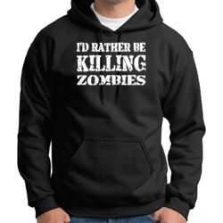 Rather Kill Zombies Hoodie Thumbnail