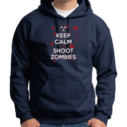 Keep Calm and Shoot Zombies Hoodie Thumbnail