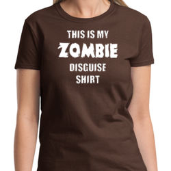 Zombie Disguise Ladies T Thumbnail
