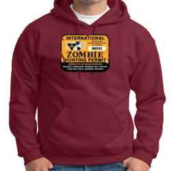 Zombie Hunting Permit Hoodie Thumbnail