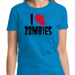 I Heart Zombies Ladies T Thumbnail