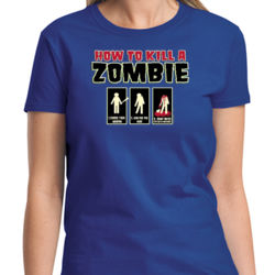 Zombie How-To Ladies T Thumbnail