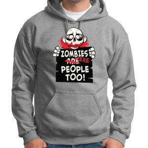Zombies Were People Hoodie Thumbnail