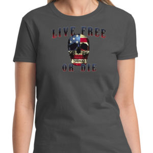 Live Free or Die Ladies T Thumbnail