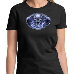 Skull Engine Ladies T Thumbnail
