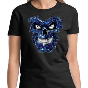 Blue Skull Ladies T Thumbnail