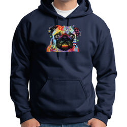 Colorful Pug - Adult Dri Blend Hooded Thumbnail